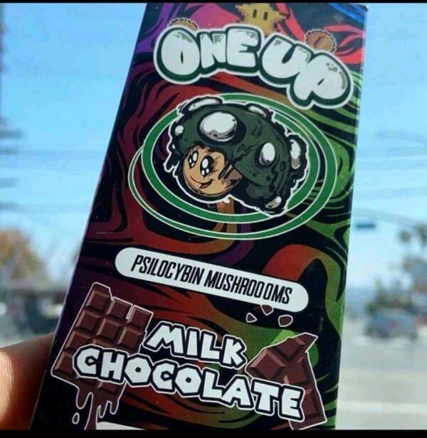 One Up Milk Chocolate mushroom